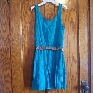 Blue Sundress with Belt